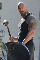 The Rock smells nothing that he's cooking after putting all that stuff up his nose.